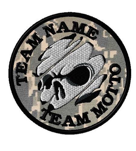 Team Patch Skull Tear in ABU fabric