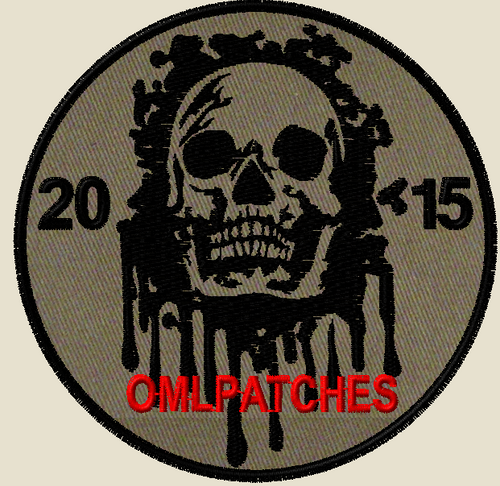 custom team morale patch blood skull on OD