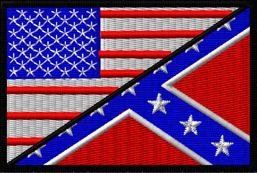 Rebel Flag/USA flag in full color