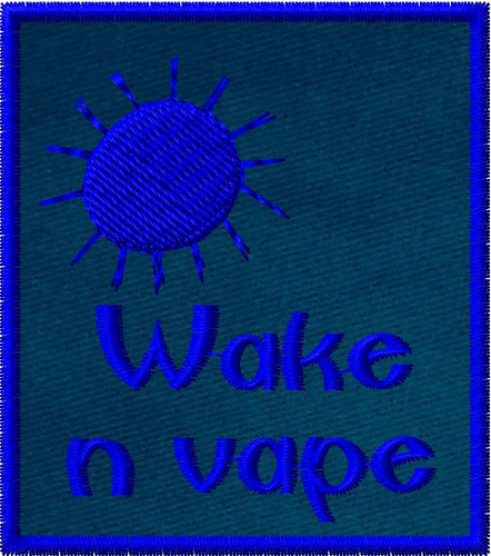 Wake and vape vaper patch