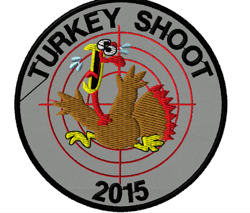 Event Patch:  Turkey Shoot Patch on grey
