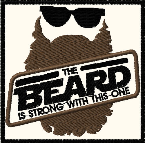 the beard is strong morale patch