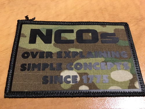 NCO PVC vinyl custom patch