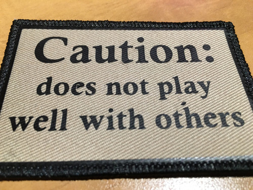 PVC Vinyl Caution patches