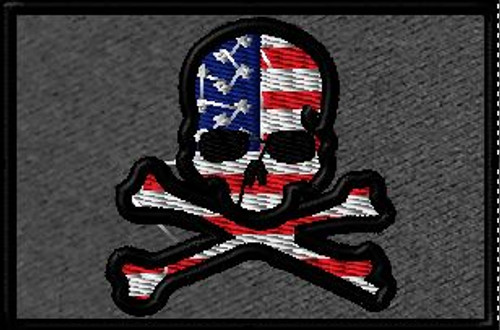 American Jolly Roger 2x3 custom patch