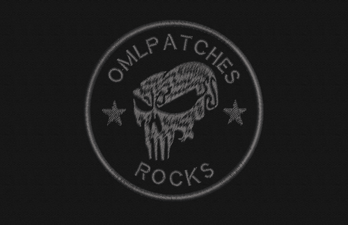 Team Patch Punisher Blackout Edition