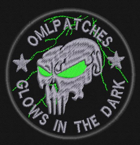 Tean Patch Punisher Glow in the Dark Lightning