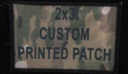 2x3 printed custom patch