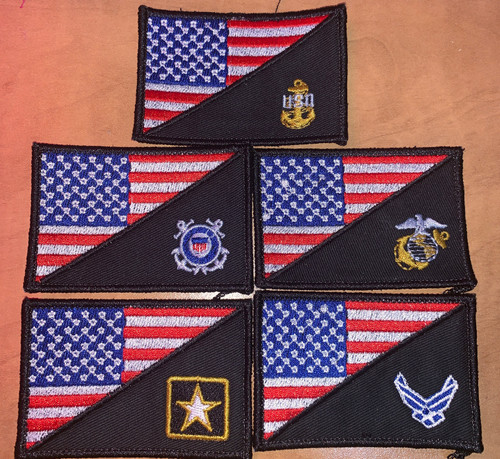 Custom USA Military logo flag