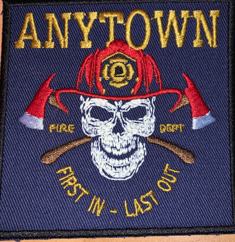 Glow in the Dark Firefighter skull patch
