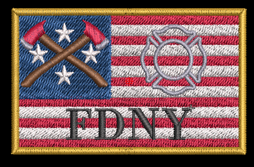 USA Firefighter Custom Velcro patch