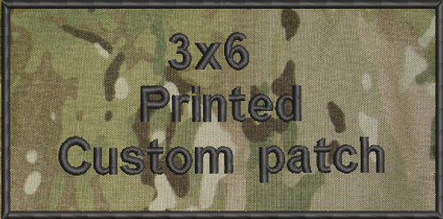 3x6 Printed Custom Patch