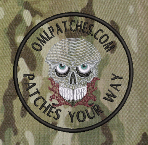 Peeled Skull team velcro patch
