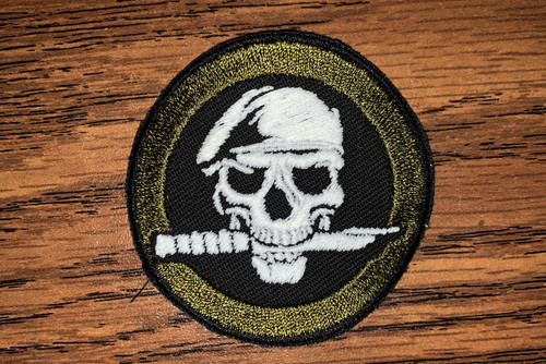 Glow Skull with knife daytime custom patch