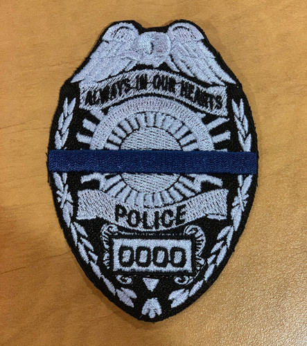 Custom Police Memorial Badge Silver