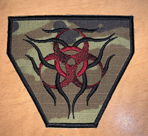 Tribal Bio Hazard Velcro Patch
