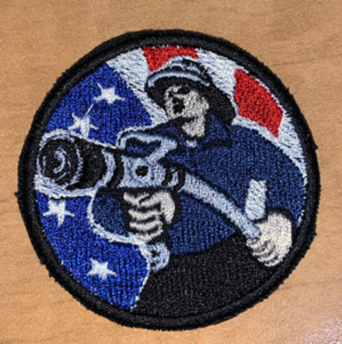 Retro Fire Fighter Velcro Patch