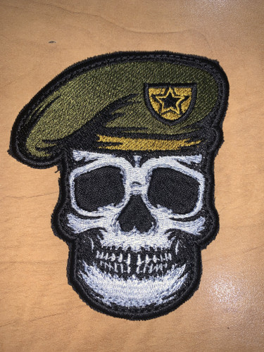 Army Skull Shaped Morale Velcro patch