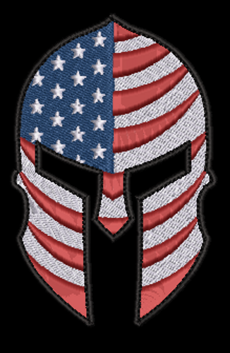 Spartan USA Shaped Custom patch