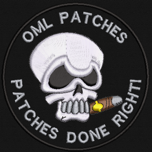 Cigar Skull Team Patch