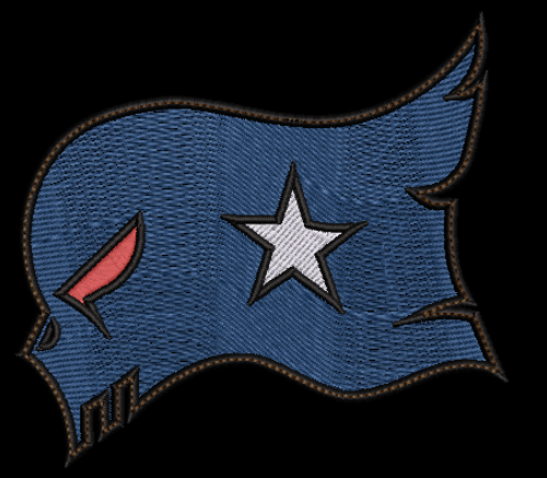 Large American Skull Flag patch