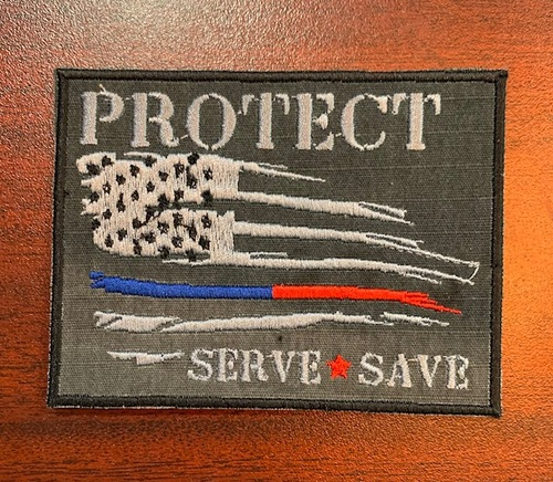 Custom Protect Serve Save velcro patch