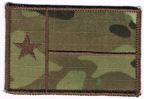 Embroidered texas flag patch with camo backgrounds
