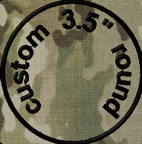 3.5in round custom VELCRO® Brand patch