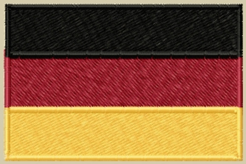 Germany Flag VELCRO® Brand Patch Full Color