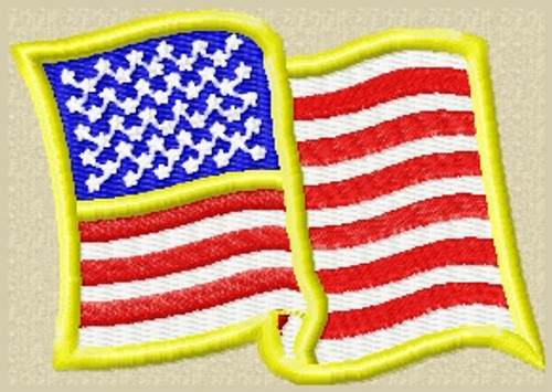 US Waving Flag VELCRO® Brand Patch Full Color