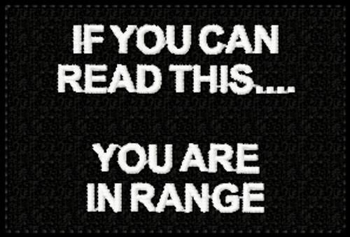 Read Range Funny VELCRO® Brand Patch