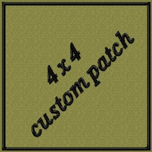 4 x 4 custom VELCRO® Brand patch