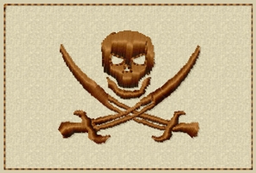 Jolly Roger Skull VELCRO® Brand Patch