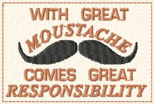 Moustache VELCRO® Brand Patch