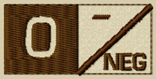 Type 2 O Neg Blood Type Patch