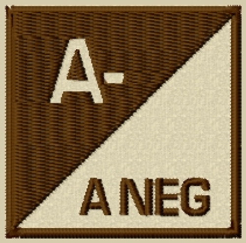 Blood Type 3 A Neg VELCRO® Brand patch