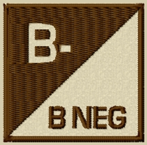 Custom Bneg type 3 VELCRO® Brand patch