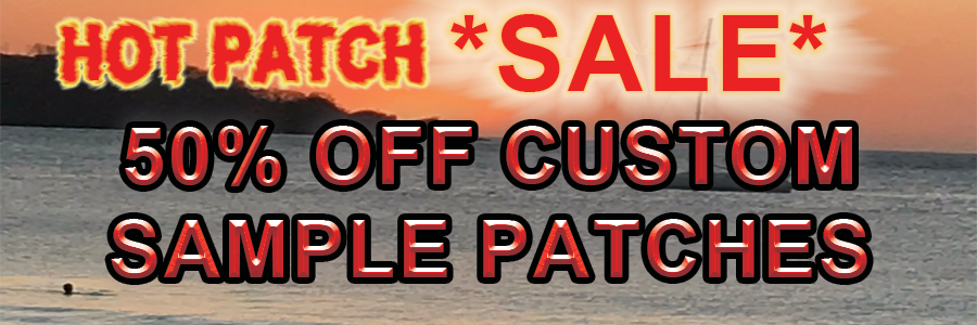 50% OFF CUSTOM PATCHES