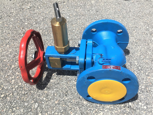 DN40 PN16 Quick Closing Valve, Straight Pattern, with Hydraulic Release  Cylinder & Pull Ring (IN USA)