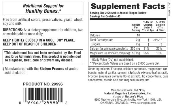 Animal Parade Calcium Children's Chewable Supplement