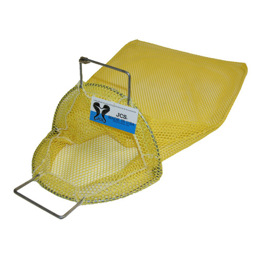 Galvanized Wire Handle Mesh Catch Bag, Approx. 17x28 (Yellow)