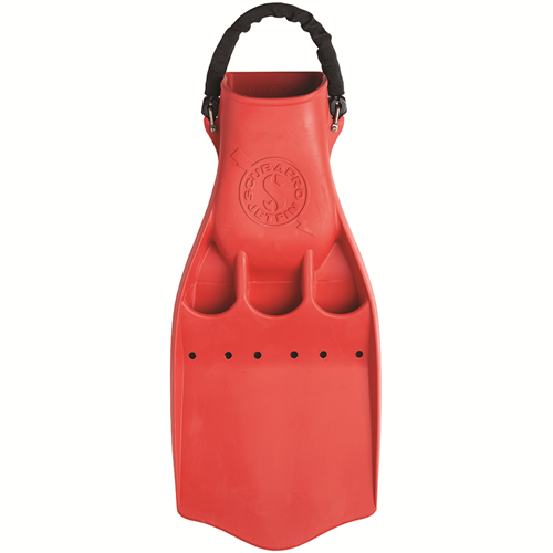 JET FIN W/SPRING STRAP - SIZE 2XL - RED