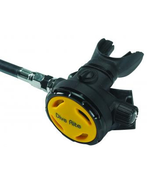 "Dive Rite XT2 - Octo with Yellow Cover - LP40"" Hose"