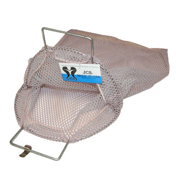 Galvanized Wire Handle Mesh Catch Bag, Approx. 24x33 (White)
