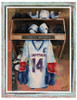 Personalized Hockey Art - Locker Room Art - One Player