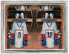 Personalized Hockey Art - Locker Room Art - Two Players