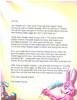 Letter frrom Easter Bunny Letter