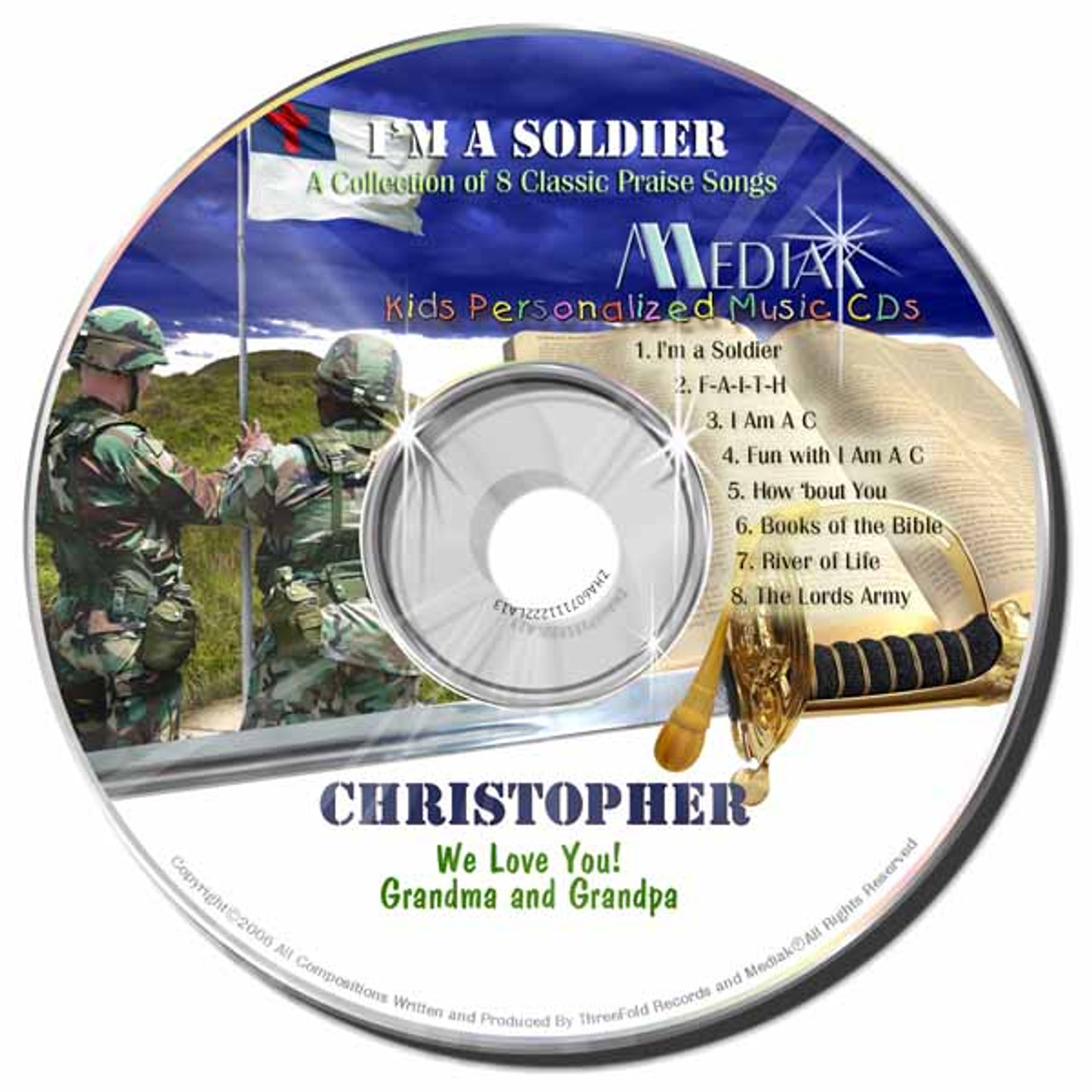 I am a Soldier Personalized Kids Music CD