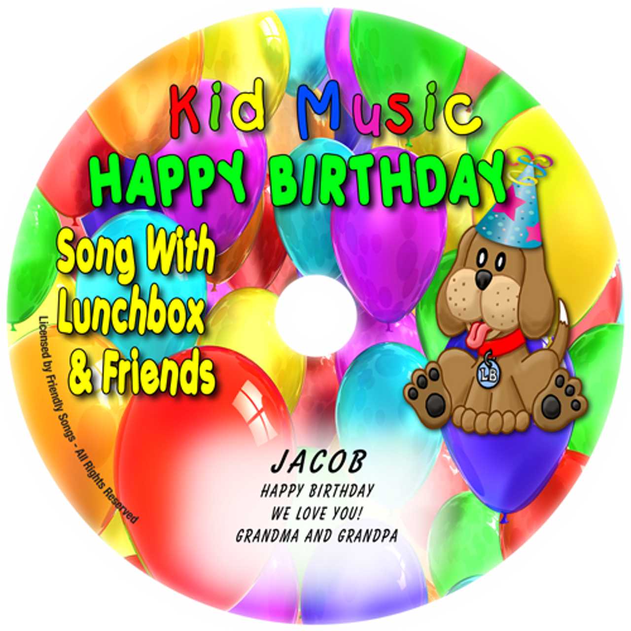Personalized Happy Birthday Song Kids Music CD