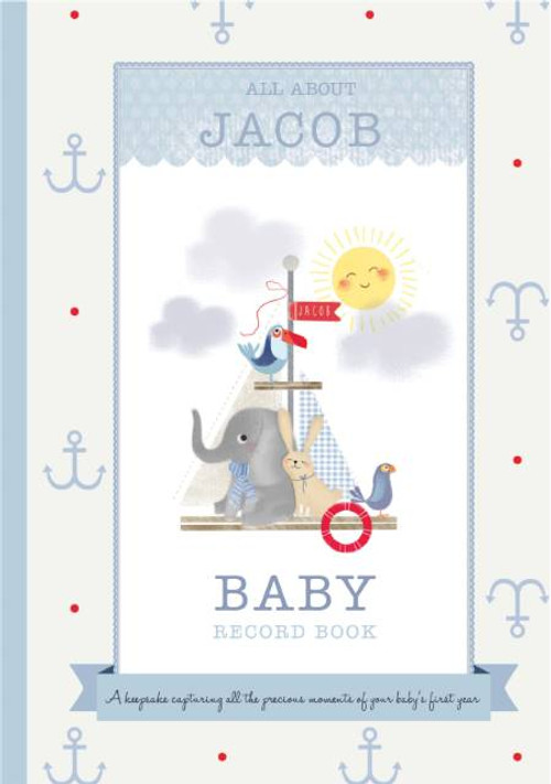Milley & Flynn Personalized Baby Boy Record Book - Blue